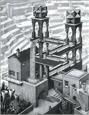 Waterfall, de M. C. Escher