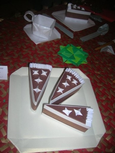 Fatias de bolo