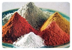 argilas coloridas