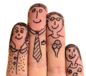 Os membros da família*