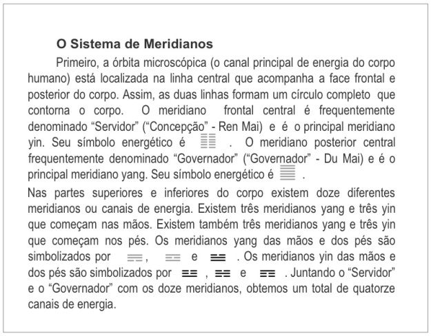 I Ching - Sistema dos Meridianos
