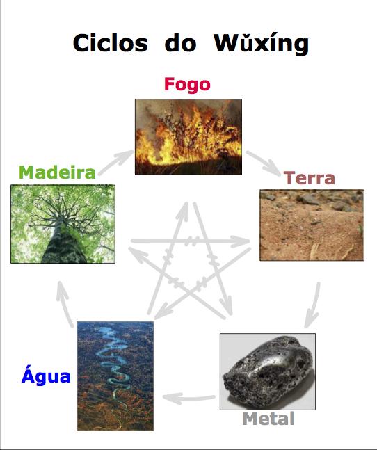 Ciclo de Criação (encadeamento periférico)   ||||||||   Ciclo de Destruição (encadeamento central)