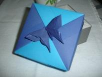 Caixa de Chá aberta (detalhe da borboleta)