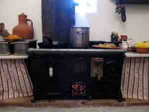 antigo fogão a lenha