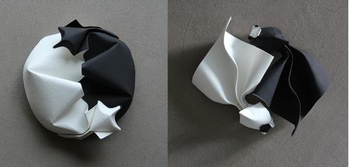 Yin-Yang Origami: Raposas Deitadas e Peixes Dourados, criados e dobrados por Tuan Nguyen Tu